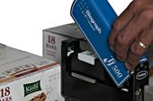 Hinged cover allows quick and easy access to replace the ink cartridge