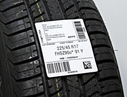 Label on a tire