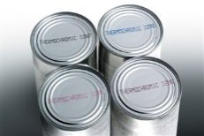 Aluminum cans with printed code on top