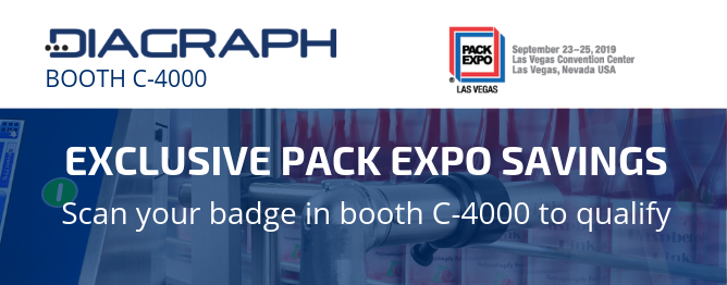 Score Savings with Diagraph at PACK EXPO Las Vegas in Booth