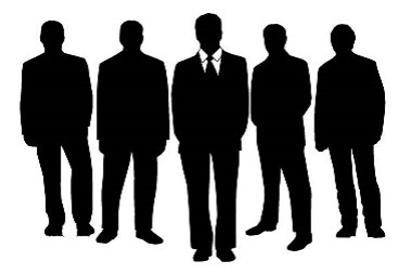 business people in silhouette