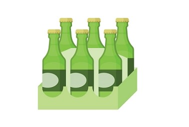 six pack of bottles clip art