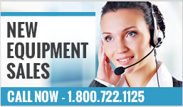 New Equipment Sales - Call Now 800-722-1125