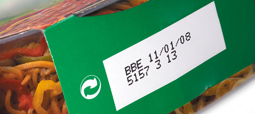 Date Code On Cardboard Example