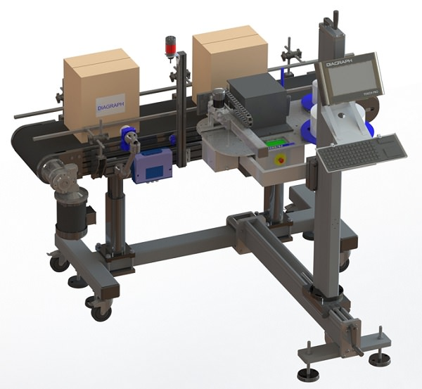 Diagraph ALP Turnkey Configuration Solution with Conveyor and Vision System